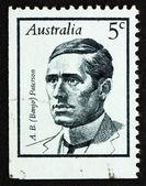 Postage stamp Australia 1968 Andrew Barton (Banjo) Paterson, Poe — Stock Photo