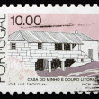 Postage stamp Portugal 1987 Transmontanas, Traditional Architect — Stock Photo
