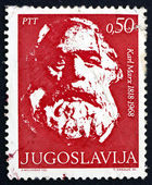 Postage stamp Yugoslavia 1968 Karl Marx, Philosopher — Stock Photo