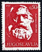 Postage stamp Yugoslavia 1968 Karl Marx, Philosopher — Stock Photo