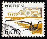 почтовые марки португалии 1978 плуги, старые и новые — Стоковое фото