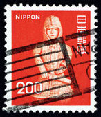 Postage stamp Japan 1976 Clay Burial Figure of Warrior, Ota — Stock Photo