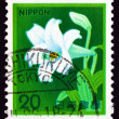 Postage stamp Japan 1980 White Trumpet Lily, Flower — Stock Photo