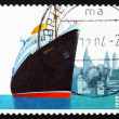 Postage stamp Germany 2004 Steamship Bremen — Stock Photo