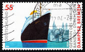 Postage stamp Germany 2004 Steamship Bremen — Стоковое фото
