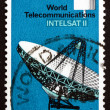 Postage stamp Australia 1968 Satellite and Antenna, Moree, N.S.W - Stock Photo