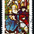 Stock Photo: Postage stamp Portugal 1983 Flight to Egypt, Christmas