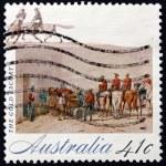Postage stamp Australia 1990 Gold , The Gold Rush — Stock Photo