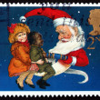 Postage stamp GB 1997 Christmas Crackers - Stock Photo