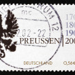 Postage stamp Germany 2001 Coat of Arms of Kingdom of Prussia - Stock Photo