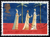 Postage stamp GB 1996 Three Kings and Christmas Star — Zdjęcie stockowe
