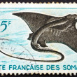 Postage stamp Somali Coast 1927 Eagle Ray, Myliobatidae, Fish — Stock Photo