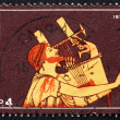 Stock Photo: Postage stamp Greece 1975 Guitarist, Design from Amphora