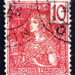Postage stamp Indo-china 1900 France, Allegory — Stock Photo