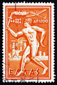 Postage stamp Greece 1954 Torchbearer — Stock Photo