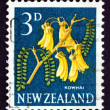 Postage stamp New Zealand 1961 Kowhai Flower, Legume Tree — Stock Photo