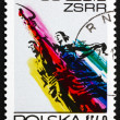 Postage stamp Poland 1972 Man and Woman, Sculpture — Stock Photo