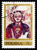 Postage stamp Poland 1971 Christ Protecting Nubia — Stock Photo