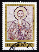 Postage stamp Poland 1971 Hermit Anamon, Fresco — Stock Photo