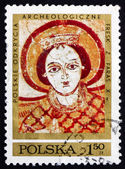 Postage stamp Poland 1971 Archangel Michael, Fresco — Stock Photo