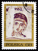 Postage stamp Poland 1971 St. Anne, Fresco — Stock Photo