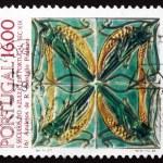 Postage stamp Portugal 1984 Grasshoppers, by Rafael Bordallo Pin — Stock Photo