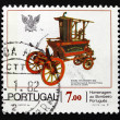 Postage stamp Portugal 1981 Pearier Pump Fire Engine — Stock Photo