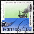 Postage stamp Portugal 1970 Paddlesteamer Laying Cable — Stock Photo