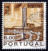 Postage stamp Portugal 1970 Catalytic Cracking Tower — Stock Photo