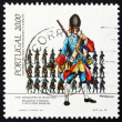 Postage stamp Portugal 1985 Infantry Grenadir, 1740 — Stock Photo