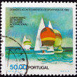 Postage stamp Portugal 1982 Sailboats, 470 Class — Stock Photo