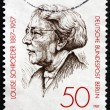 Stock Photo: Postage stamp Germany 1987 Louise Schroeder, Politician