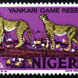 Royalty-Free Stock Photo: Postage stamp Nigeria 1973 African Leopards