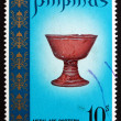 Postage stamp Philippines 1972 Metal Age Chalice - Stock Photo