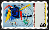 Postage stamp Germany 1989 Bluxao I, by Willi Baumeister — Stock Photo