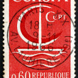 Postage stamp France 1966 Symbolic Sailboat, Europa CEPT — Stock Photo