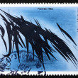 Постер, плакат: Postage stamp France 1980 Abstract by Hans Hartung