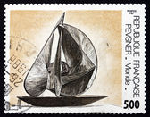 Postage stamp France 1987 World, by Antoine Pevsner — Stock Photo