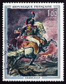 Postage stamp France 1962 Guards Officer on Horseback — Stock Photo