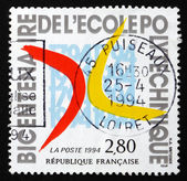 Postage stamp France 1994 French Polytechnic Institute, Bicenten — Stock Photo