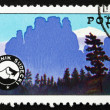 Postage stamp Poland 1975 Mountain Guides' Badge — Zdjęcie stockowe