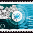 Postage stamp Germany 1973 Environment Emblem and pollution of t — ストック写真