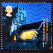 Postage stamp GB 2000 Church Floodlighting, Christmas — Stock Photo
