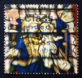 Postage stamp GB 2000 Stained Glass Window — Stock Photo