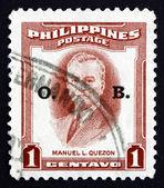 Postage stamp Philippines 1953 Manuel L. Quezon — Stock Photo