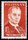 Postage stamp Philippines 1963 Manuel L. Quezon, Portrait — Stock Photo