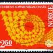 Postage stamp Norway 1983 Symbolic Arrow Design — Stock Photo #25270953