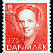 Постер, плакат: Postage stamp Denmark 1990 Margrethe Queen of Denmark