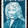 Postage stamp Iceland 1975 Arni Magnusson, Historian — Stock Photo #25271121