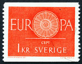 Postage stamp Sweden 1975 19-Spoke Wheel, CEPT — Stock Photo